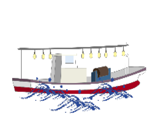 船に乗って釣りに出発っ~!!